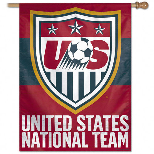 United States National Team Red Vertical Flag: 27x37 Banner