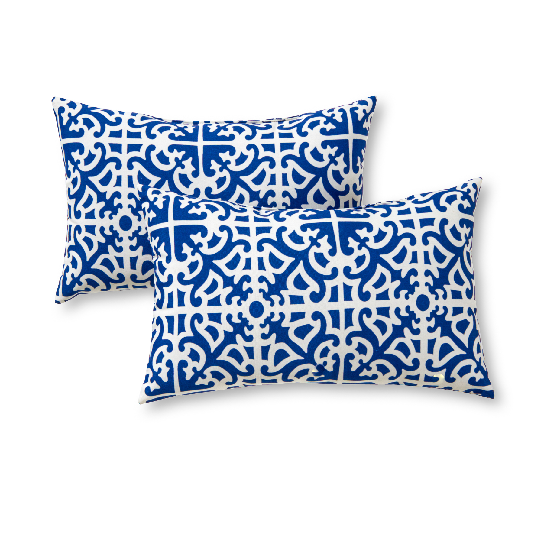 Greendale Home Fashions Lattice Rectangle Outdoor Accent Pillow, Set of 2
