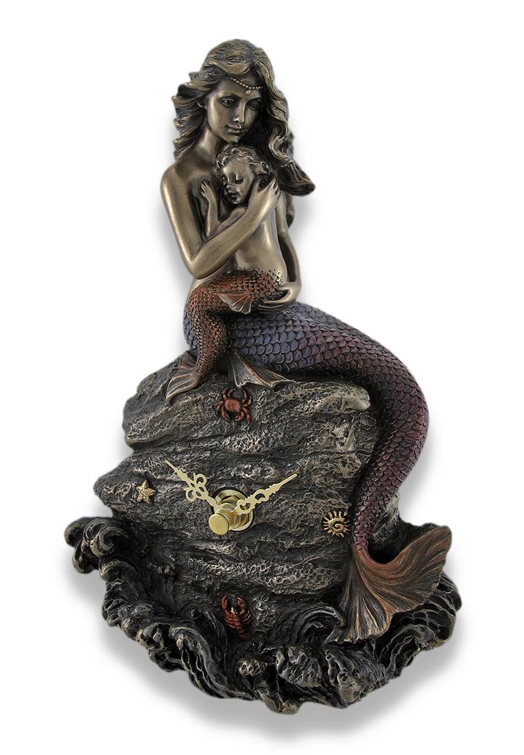 Mermaid Mother And Child Bronzed Clock Statue Walmart Com Walmart Com