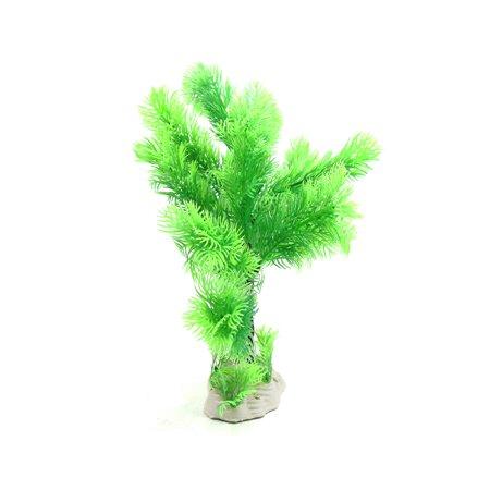 Plantes en Plastique du réservoir d'Aquarium Ornement Décoration Aménagement Betta w/Base en céramique - image 2 de 3