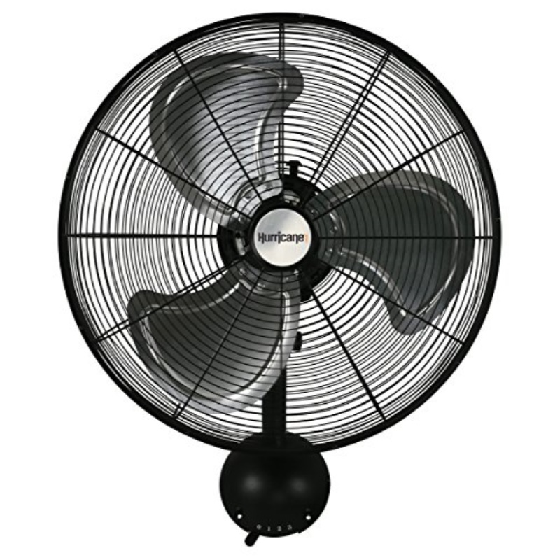 Hurricane Wall Mount Fan - 20 Inch   Pro Series   High Velocity   Heavy Duty Metal Wall Mount Fan for Industrial, Commercial, Residential, and Greenhouse Use - ETL Listed, Black