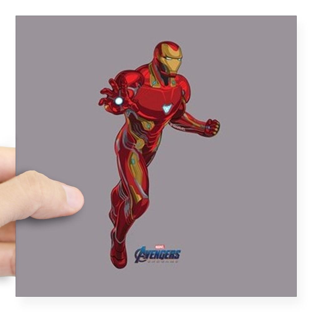 "CafePress - Iron Man Avengers Endgame Square Sticker 3 X 3 - Square Sticker 3"" x 3"""