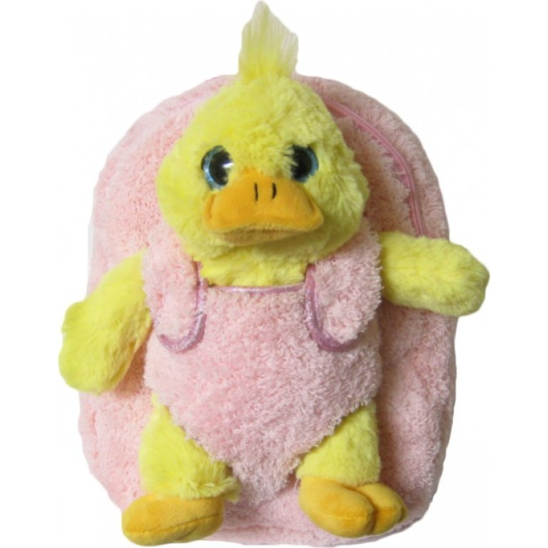 Kids Yellow Ducky Animal Plush Toddlers Backpack