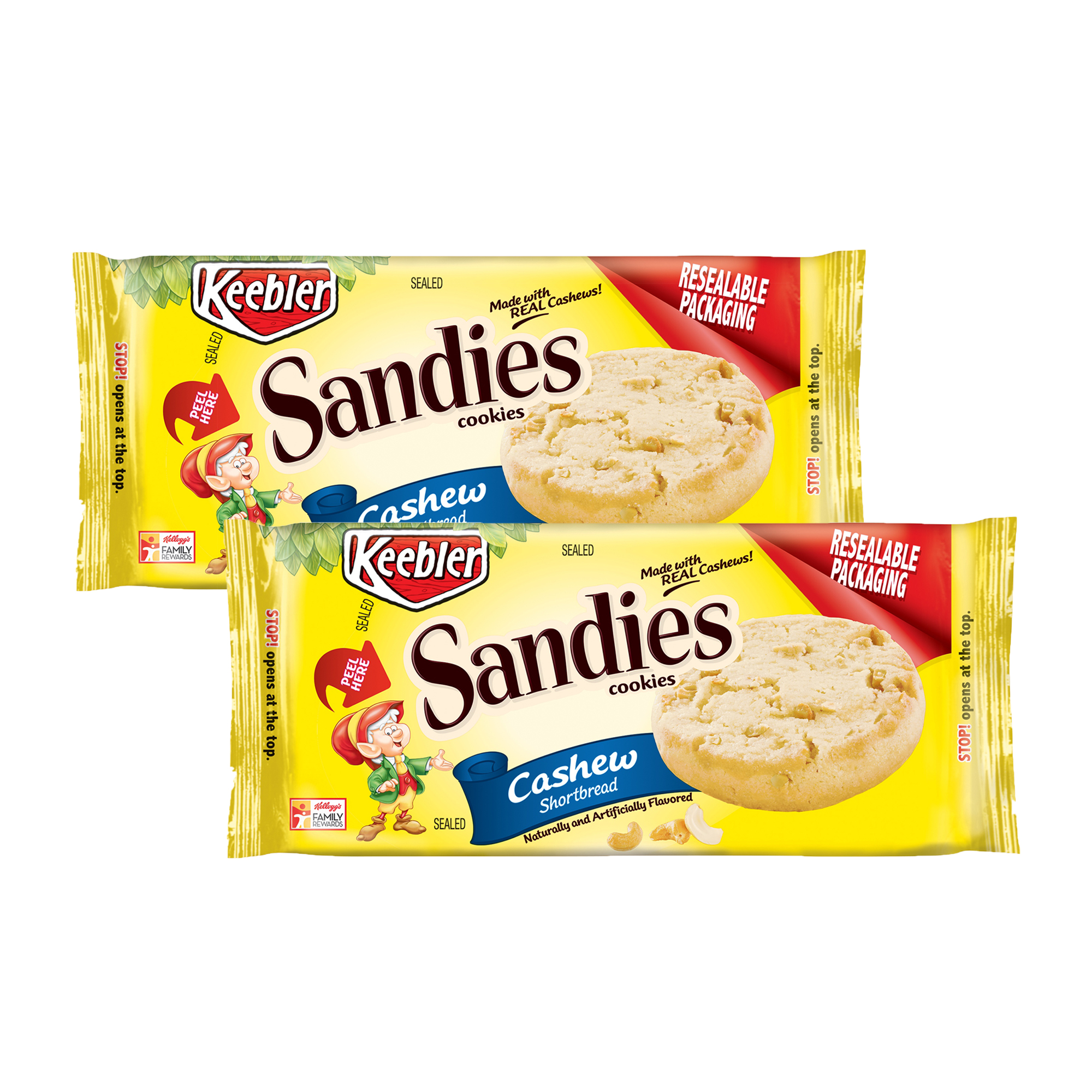 Keebler™ Sandies® Cashew Shortbread Cookies 11.2 oz. Tray