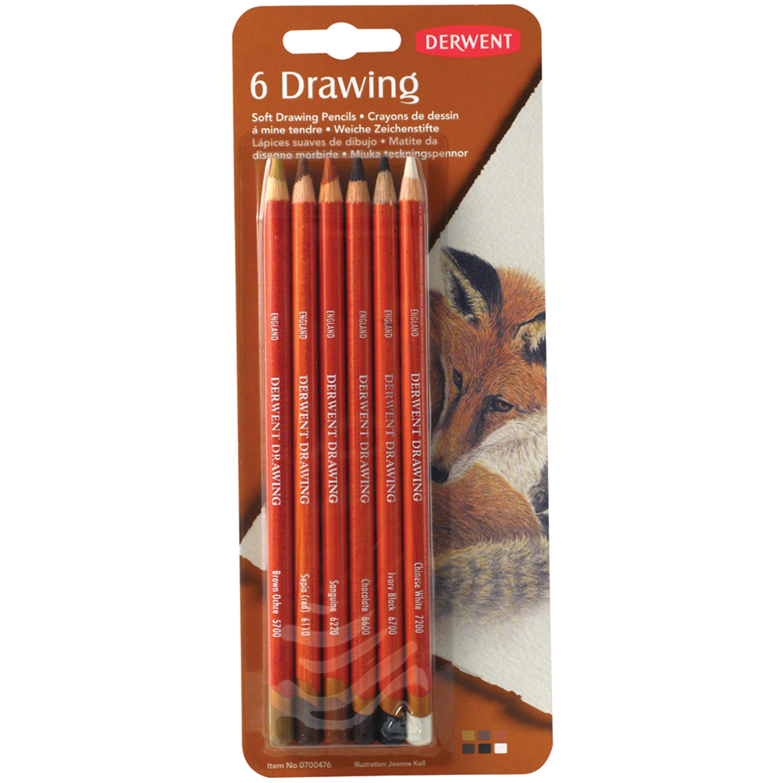 Derwent Drawing 6-Pencil Set