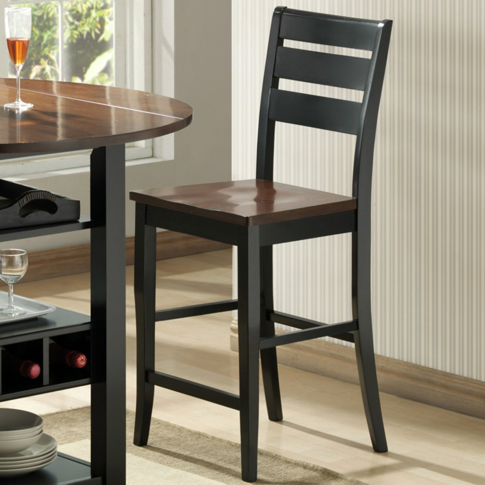 Sunset Trading Quincy 24 in. Black & Cherry Counter Stool
