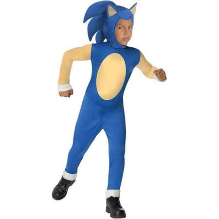 Sonic Boy Jumpsuit Halloween Costume