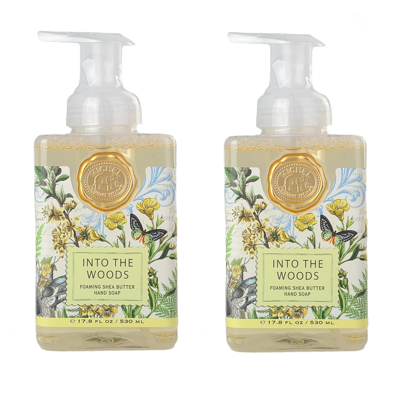 Michel Design Works Foaming Hand Soap 2 Pack Into The Woods Unisex