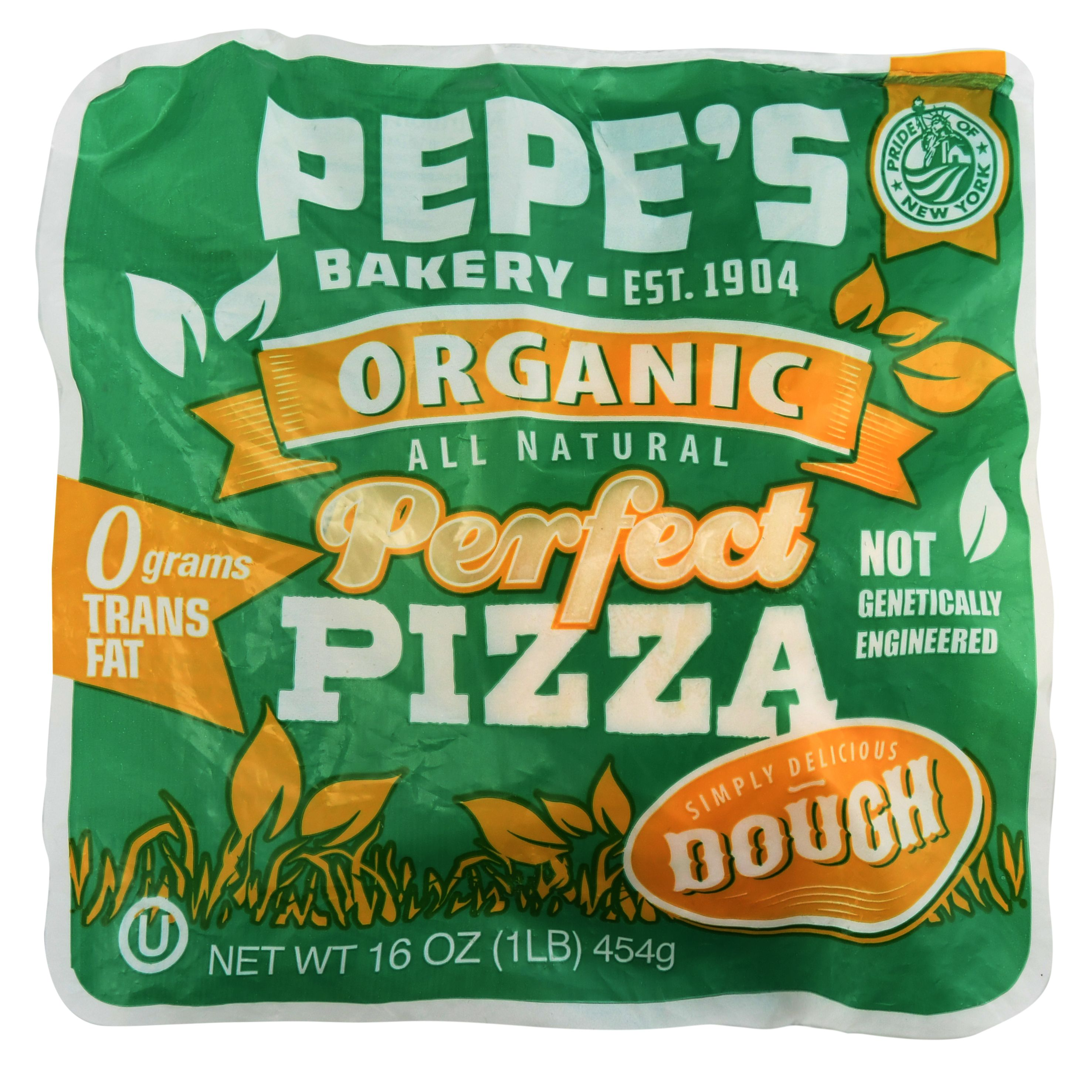 Pepe's Organic Perfect Pizza Dough, 16 oz
