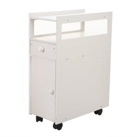 Bathroom Cabinet, Narrow Storage Shelf with Door and ...
