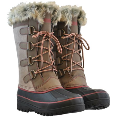 Khombu Women's North Star Thermolite Weather-Rated Winter Snow Boots (Tan, Womens US 11M)