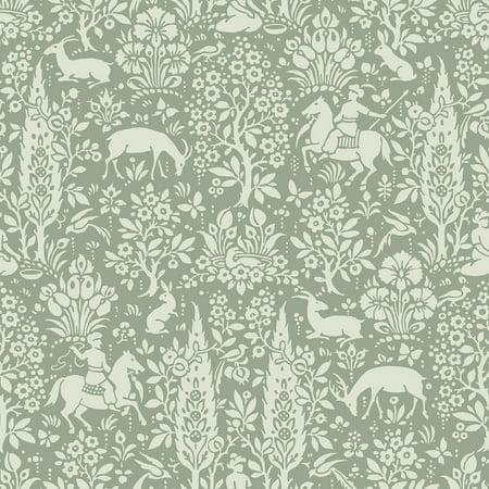 Crown Sherwood Sage Woodland Wallpaper