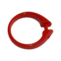 "Clear Set of 12 Easy-to-Use Plastic Snap On Shower Curtain Rings  Size: 2"" Diameter"