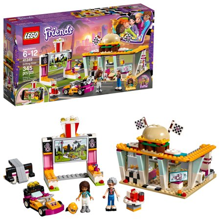 LEGO Friends Drifting Diner 41349 Race Car and Go-Kart Toy Building Kit for Kids, Best Creative Christmas Gift for Girls and Boys (345 Pieces)