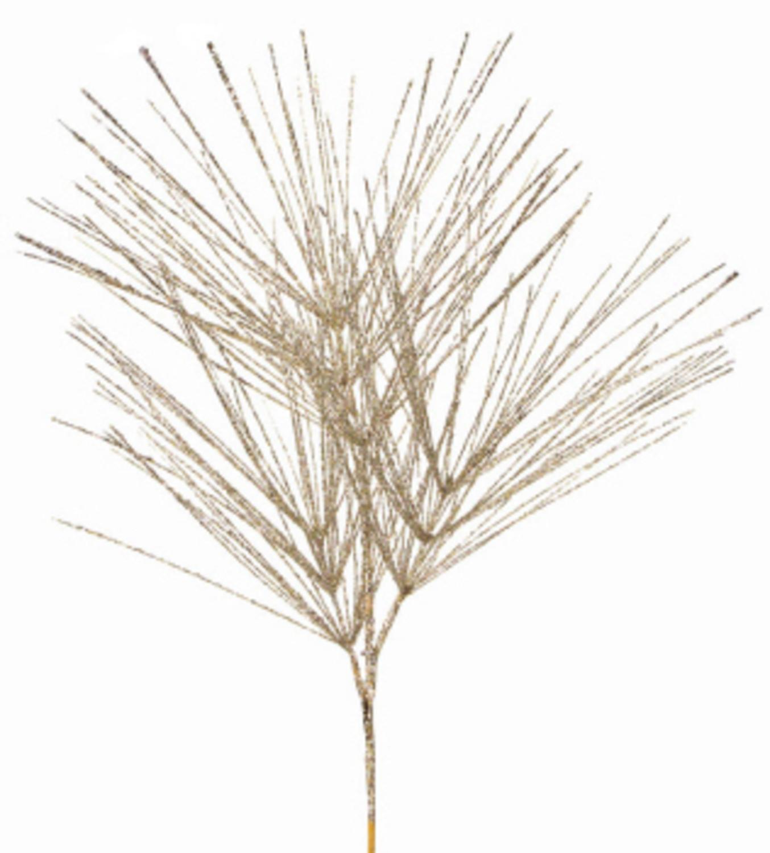 "Pack of 6 Tiffany Glitter Artificial Pine Tree Decorative Christmas Sprays 41"""