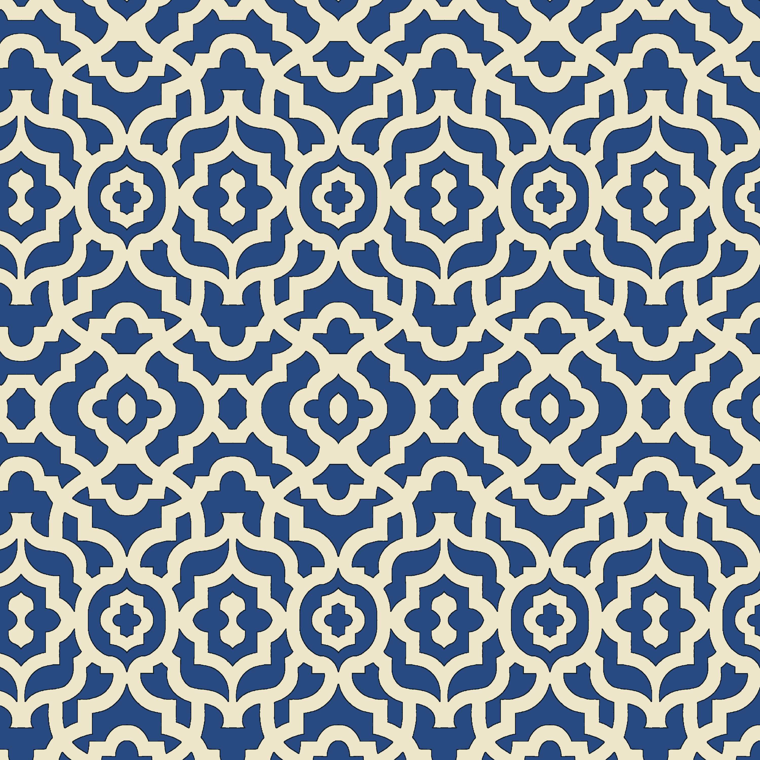 Waverly Inspirations Lattice Blue 100% Cotton Duck Fabric 45'' Wide, 180 Gsm, Quilt Crafts Cut By The Yard