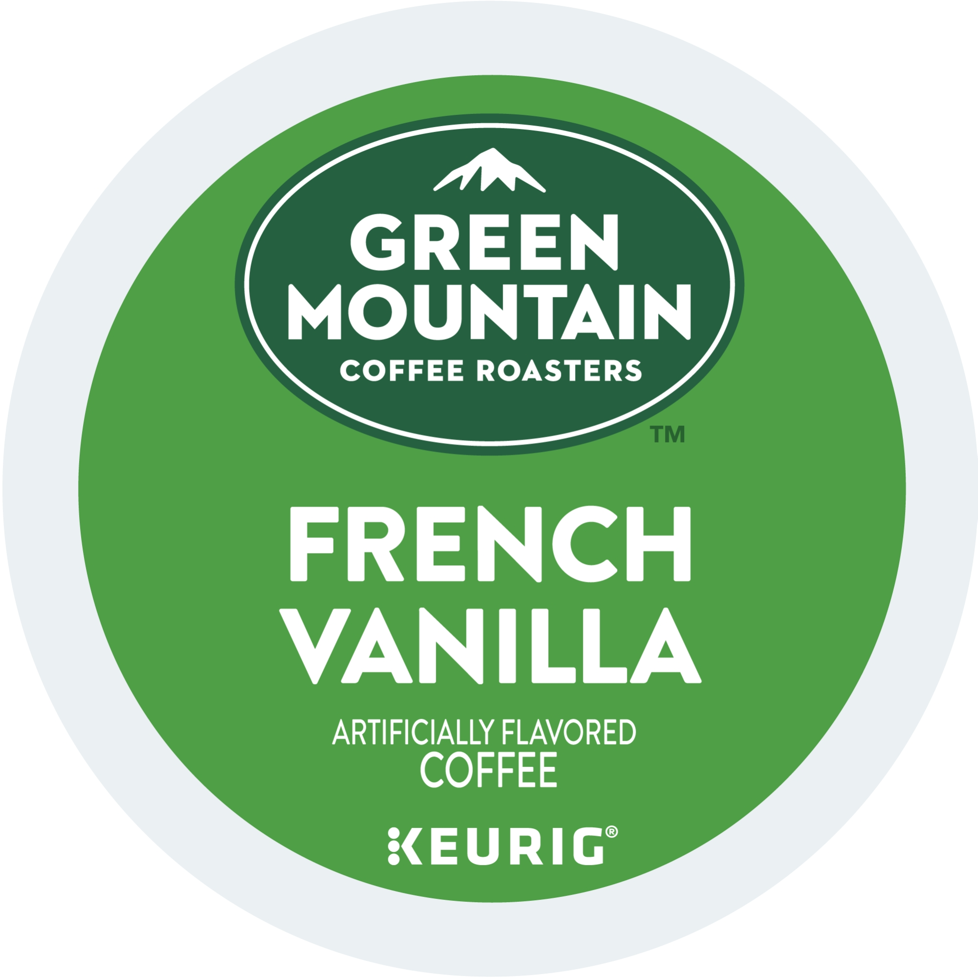 Green Mountain Coffee Roasters French Vanilla Keurig Single-Serve K-Cup pods, Light Roast Coffee, 18 Count
