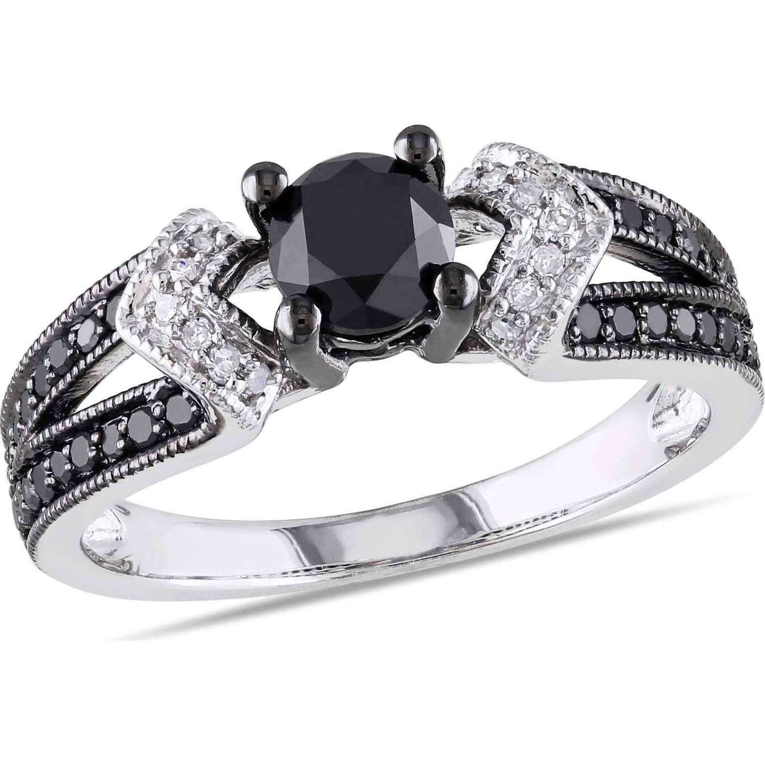 sterling com t diamond black carat silver and ring asteria walmart w white ip engagement rings