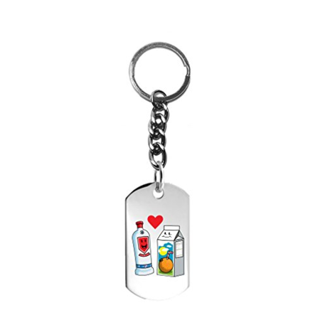 Hat Shark Vodka Loves OJ Orange Juice Cute Couple Meant to Be Screwdriver Graphic - 3D Color Printed Metal Ring Key Chain Keychain](Cute Couple Accessories)