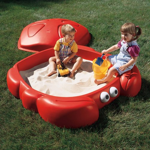 Step2 Crabbie 4' Rectangular Sandbox with Cover by The Step2 Company