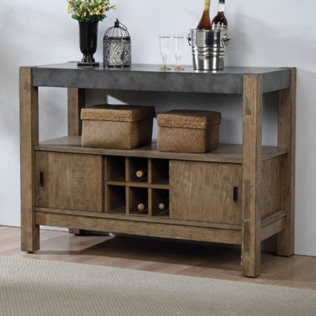 Gracie Oaks Soares Contemporary Rectangular Wooden Server