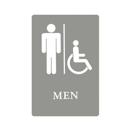 headline signs men restroom wheelchair accessible symbol ada sign in