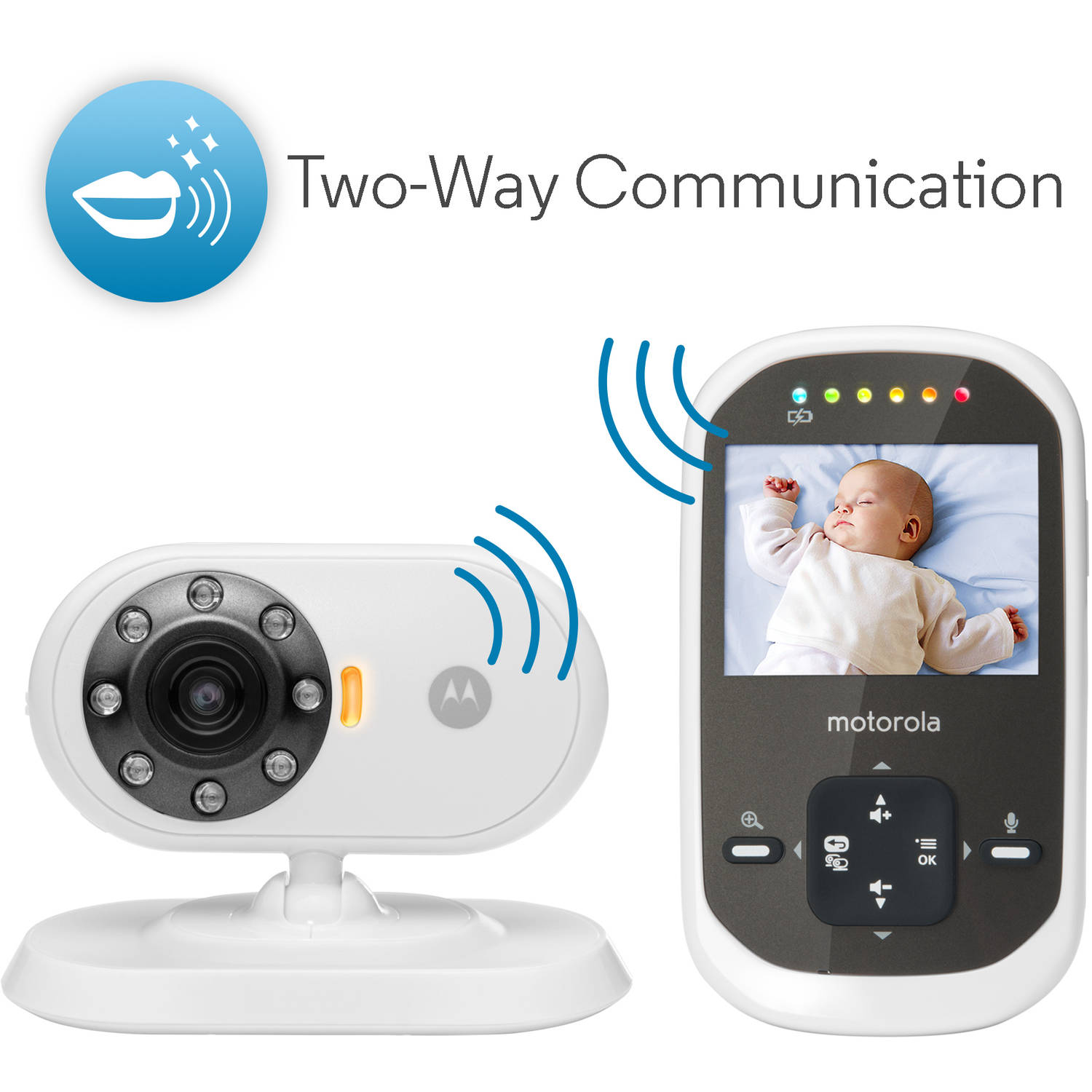 motorola mbp25 2 digital video baby monitor with two cameras ebay. Black Bedroom Furniture Sets. Home Design Ideas