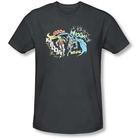 Batman and Robin Action Duo Charcoal Black T-Shirt (Batman And Robin Suits)