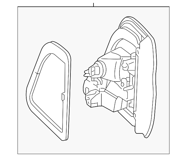 Genuine Oe Mercedes Benz Backup Lamp Assembly 166 906 59 02