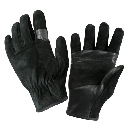 SWAT/FAST Rope Leather Rescue Gloves in Black