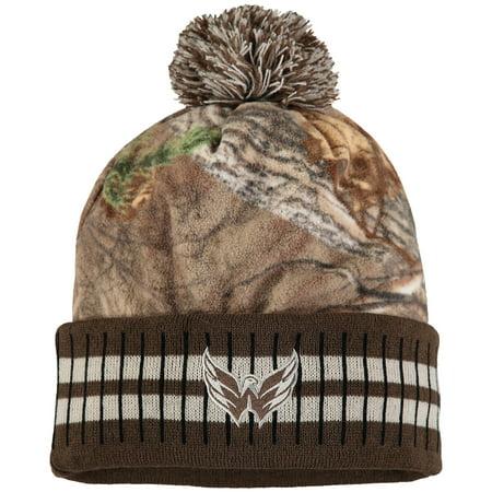 0baa8225414 Washington Capitals Old Time Hockey Realtree Xtra Cuffed Knit Hat With Pom  - Camo Brown - OSFA - Walmart.com