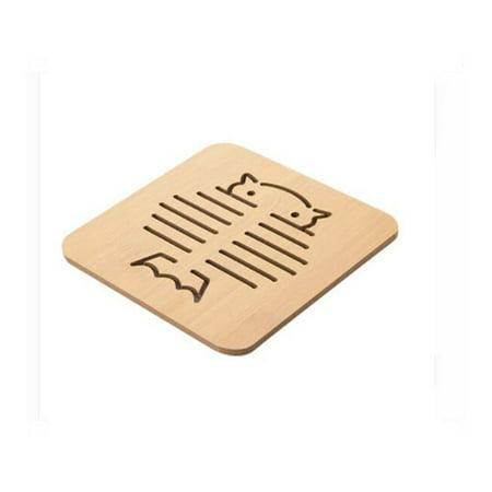 - Mallroom1 Pc Wood Heat Resistant Pad Pan Pot Mat Holder Kitchen Cooking Isolation Pad