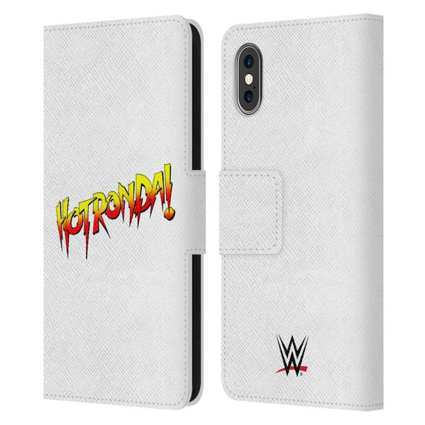 Head Case Designs Officially Licensed WWE Ronda Rousey Hot Leather Book Wallet Case Cover Compatible with Apple iPhone X / iPhone XS