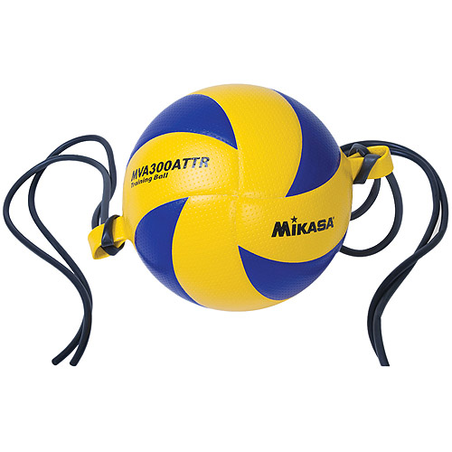 MIKASA MVA300ATTR Training Indoor Volleyball, Blue/Yellow