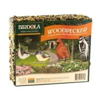 Birdola Woodpecker Seed Cake 2 Pounds, Premium Blend Of Nuts And Seeds