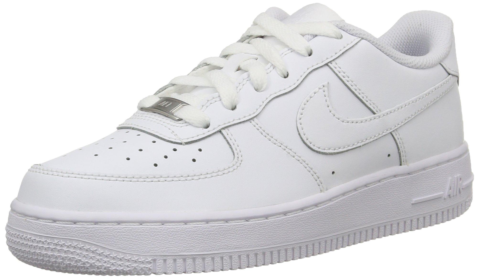 Nike 314192-117: Air Force 1 '07 Kids Fashion Sneakers (5.5 M US Big Kid, White White) by Nike