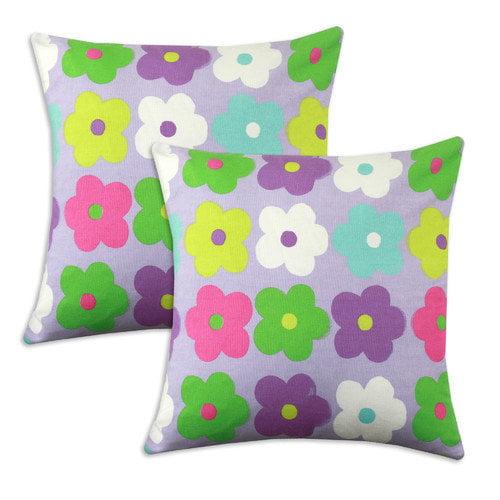 Chooty & Co Happy Days KE  Cotton Pillow (Set of 2)