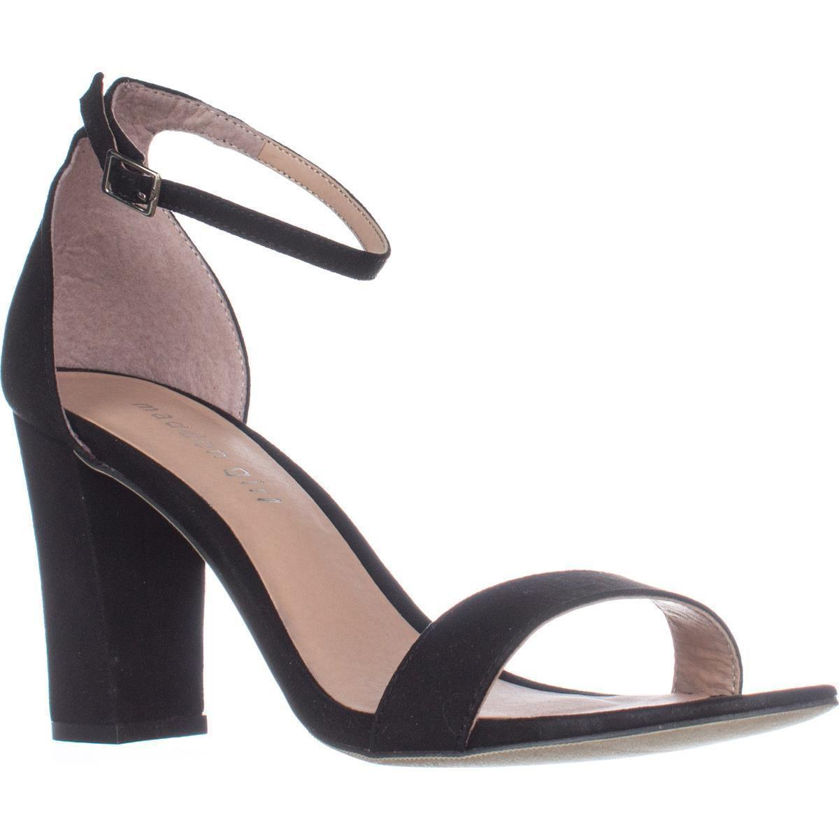 Womens madden girl Beella Ankle Strap Dress Sandals, Black