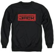 Samurai Jack Red Logo Mens Crewneck Sweatshirt