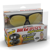 Bell + Howell Tac Glasses Night Vision - Military-Inspired Glasses Shield Your Eyes and Sharpen Your Vision – As Seen on TV!