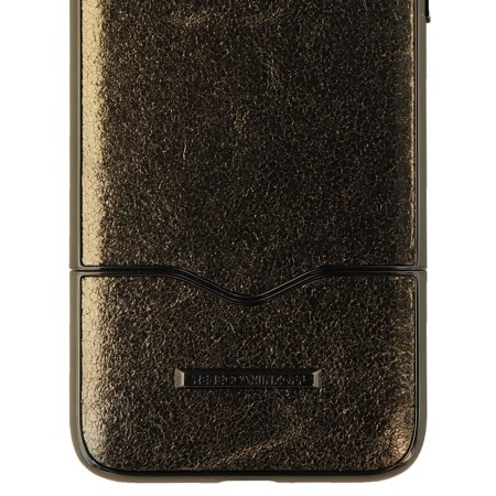 detailed look e0219 206b8 Rebecca Minkoff Slide Case Cover for Apple iPhone 8 Plus 7 Plus - Black  Leather