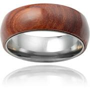 Daxx Men's Titanium Hawaiian Koa Wood In