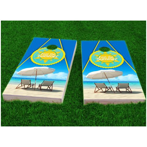 Custom Cornhole Boards Beach Cornhole Game (Set of 2) by Custom Cornhole Boards