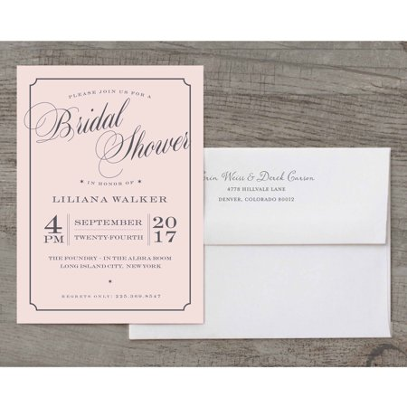 Beautiful Shower Deluxe Bridal Shower Invitation