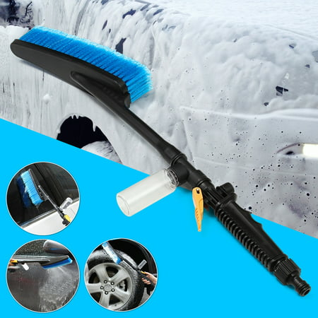 Car Wash Brush Auto Exterior Retractable Cleaner Long Handle Water Flow Switch Foam bubble bottle cleaning