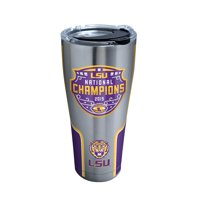 NCAA LSU Tigers 2019 National Champions 30 oz Stainless Steel Tumbler with lid