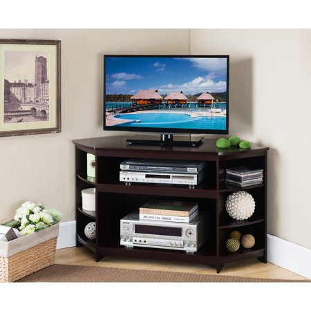 (K and B Furniture Co Inc K and B Furniture Brown Wood and Veneer TV Stand)