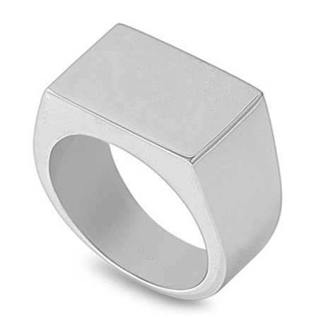 Men's Women's Engravable Ring Wholesale Stainless Steel Band 14mm Size 12