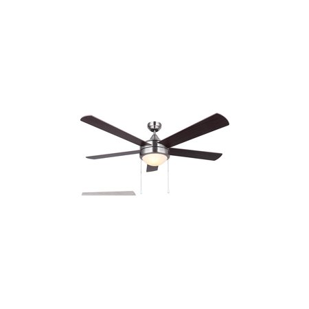Indoor Ceiling Fans 2 Light Fixtures With Brushed Nickel Finish A Bulb 52