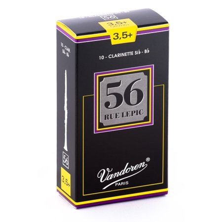 Vandoren Bb Clarinet 56 Rue Lepic Reeds Strength #3.5+; Box of